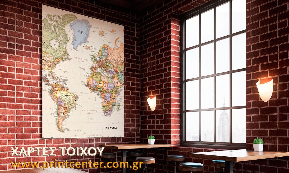 χάρτες σε πίνακα foam board kapa