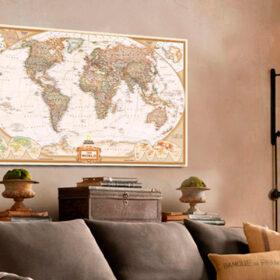 Ιδέες διακόσμησης με χάρτες