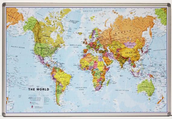 χάρτης σε κορνίζα αλουμινίου