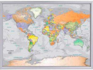 χάρτης σε κορνίζα