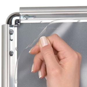 κορνίζα αλουμινίου με προσταυτική διαφάνεια snap