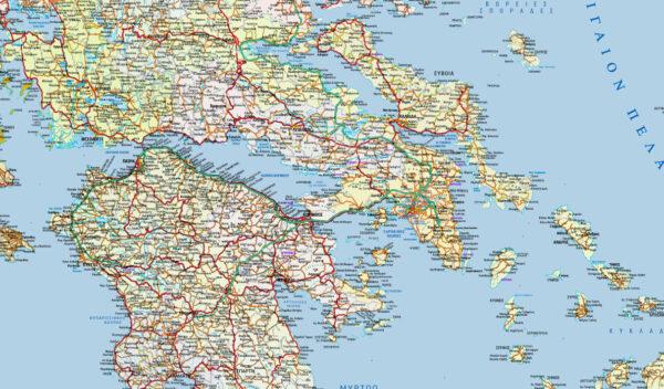λεπτομέρεια χάρτη Ελλάδας
