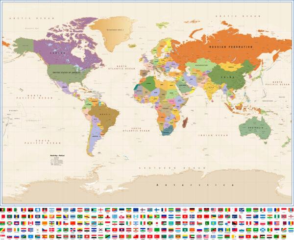 Παγκόσμιος χάρτης σημαίες