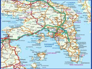 Χάρτης Αττικής οδικός