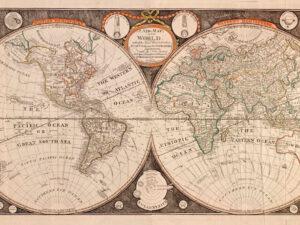 Χάρτης Vintage του κόσμου 1799