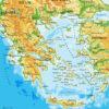 Σχολικός γεωφυσικός χάρτης Ελλάδας