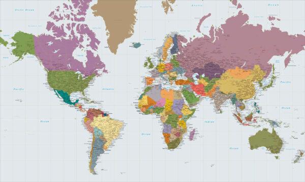 μεγάλος χάρτης του κόσμου