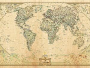 παγκόσμιος χάρτης στυλ αντίκα