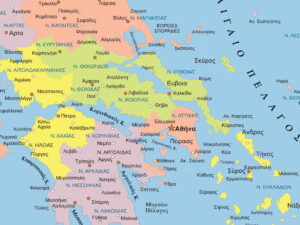 χάρτης Ελλάδας λεπτομέρεια