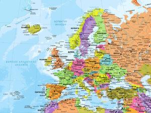 χάρτης Ευρώπης μεγάλος