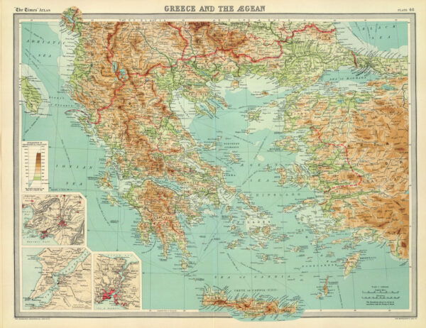 χάρτης Ελλάδας αντίκα