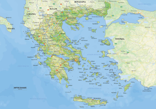 γεωφυσικός χάρτης Ελλάδος