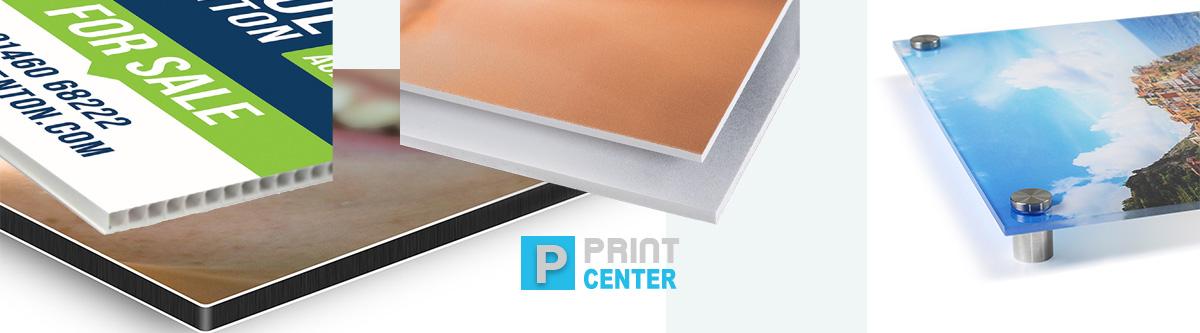 εκτυπώσεις σε pvc, plexiglass, forex άκαμπτα υλικά