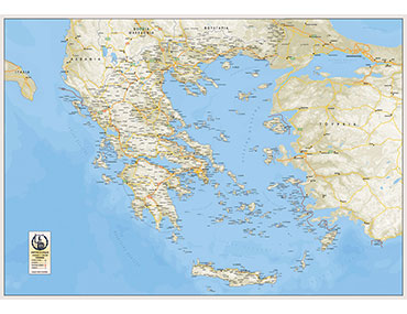 Χάρτης Ελλάδος πολιτικός
